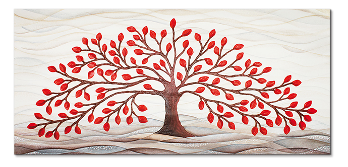 cartapietra 101501ro picture tree of life red