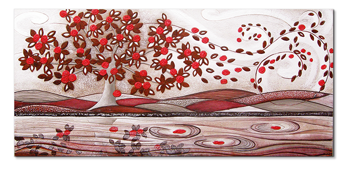 cartapietra 101548ro picture leaves in the wind red