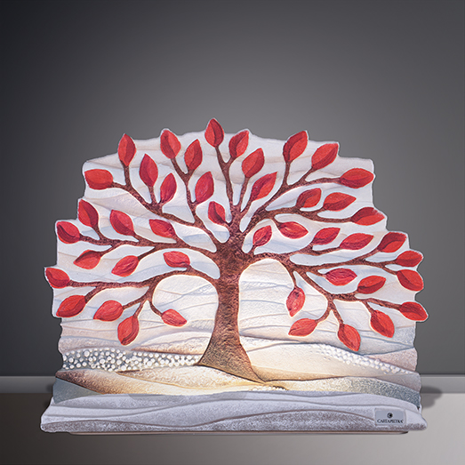 cartapietra luminous sculpture tree of life red